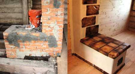 Печь до и после ремонта